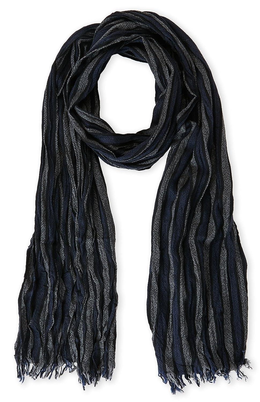 John Varvatos Men's Cable Striped Merino Wool Scarf SCW-3267