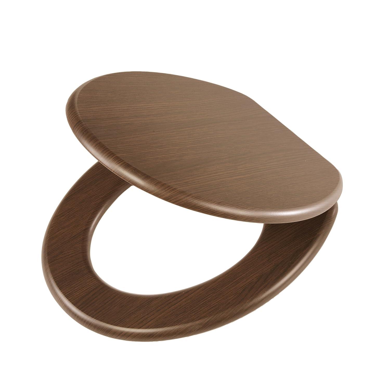 Tiger Douglas Toilet Seat with Slow Close Mechanism, Walnut Wood, 43 x 37.5 x 5 cm 43x 37.5x 5cm 251675346