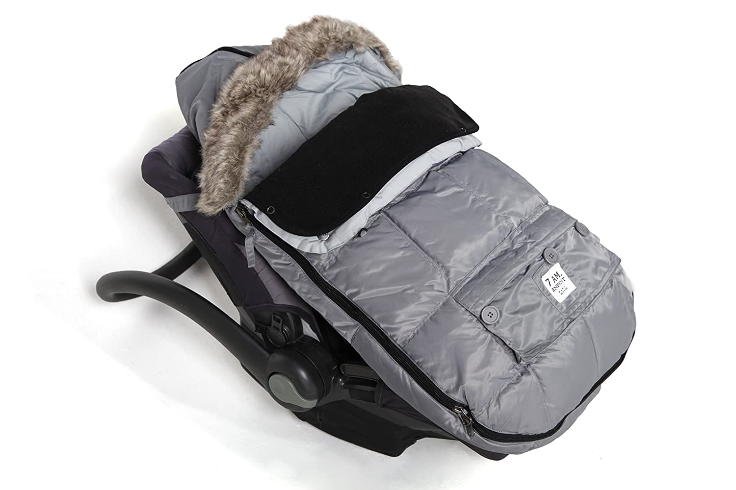 Small Converts into a Single Panel Stroller and Car Seat Cover 7AM EnfantLe Sac Igloo Footmuff Gray