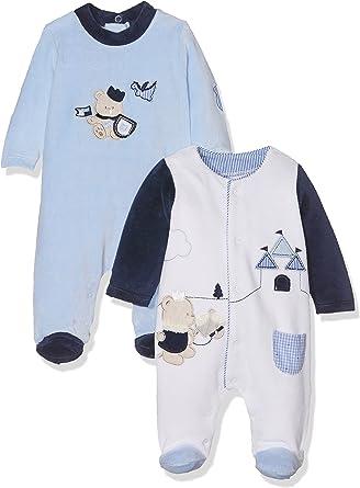 Mayoral 2717 Set 2 Pijamas Punto tundosado, Celeste, 1M-2M ...
