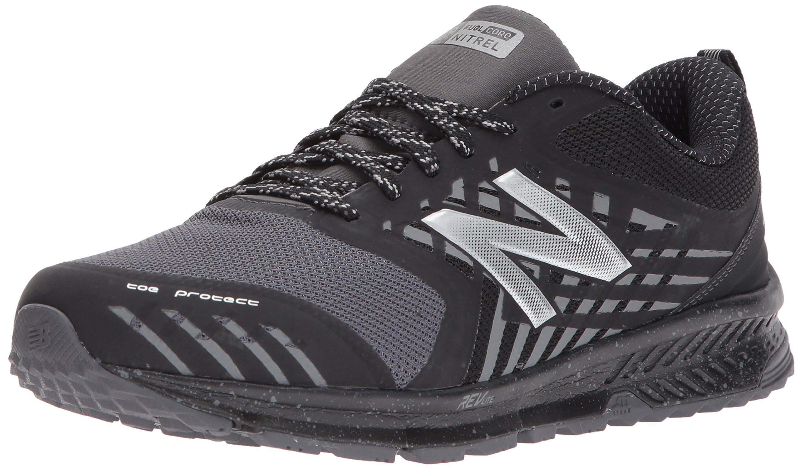 New Balance Men's Nitrel v1 FuelCore Trail Running Shoe, Black/Grey, 13 D US by New Balance