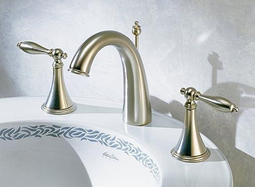 KOHLER KMCP Finial Traditional Widespread Lavatory Faucet - Kohler brass bathroom fixtures