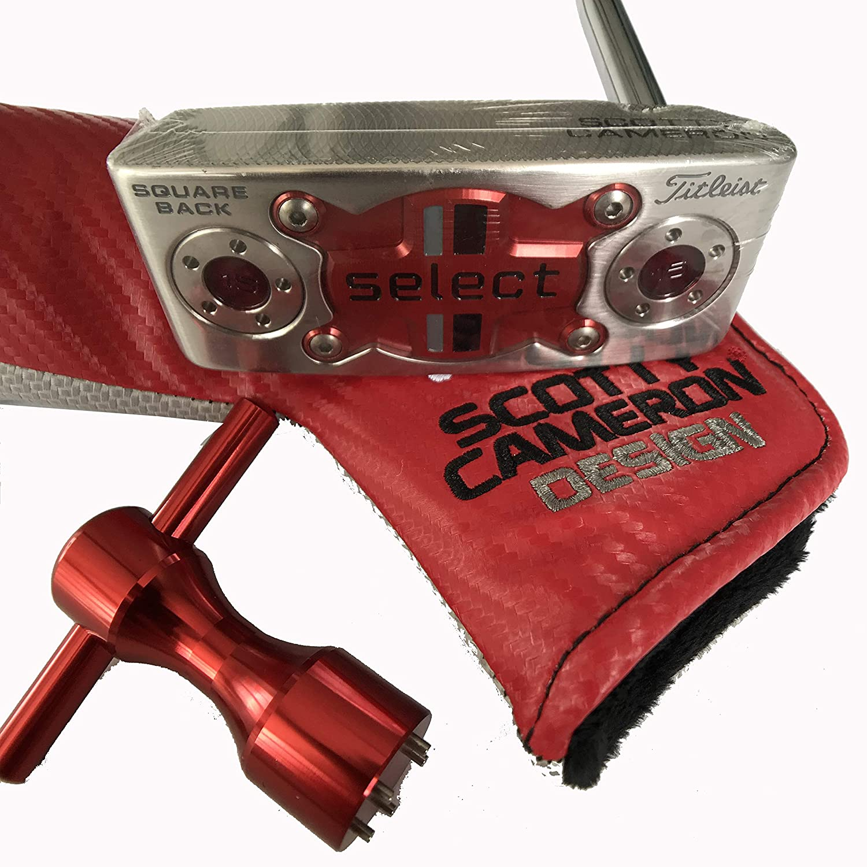 select SQUARE BACK パター メンズ 34インチ シルバー&レッド B07GGVS1S4