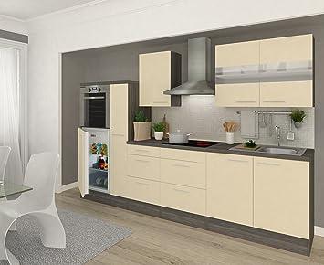 respekta Cucina in Blocco 300 cm hochbau Vaniglia in Rovere Grigio ...