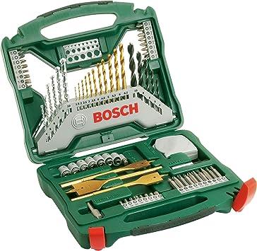 Bosch X-Line Titanio - Maletín de 70 unidades para taladrar y atornillar: Amazon.es: Bricolaje y herramientas