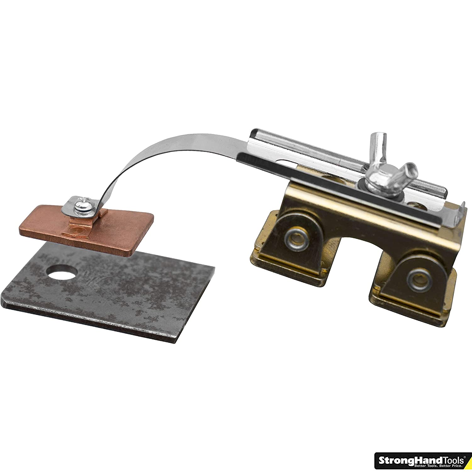 Hole Plug Magnet Strong Hand Tools Pivoting V-Pad Spring Loaded Arm Hole Welds AGK320 Heat Dissipating Copper Pad