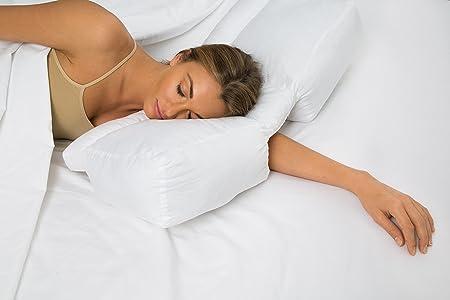 DeluxeComfort Dormir Mejor Almohada – Brazo túnel Nube Almohada Mejor micropartículas Almohadas para Dormir con Brazo en su Cabeza, Gel Fiber Fill,