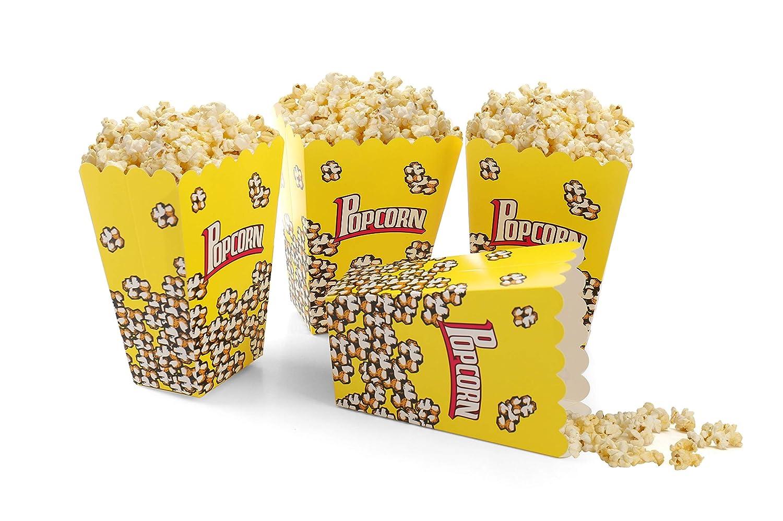 Pack of 12 Komonee Foldable Pack Of Childrens Popcorn Holder Boxes Blue