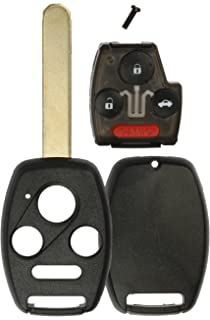 KeylessOption Keyless Remote Uncut Car Key Fob Shell and Button Pad With Chip Slot For OUCG8D