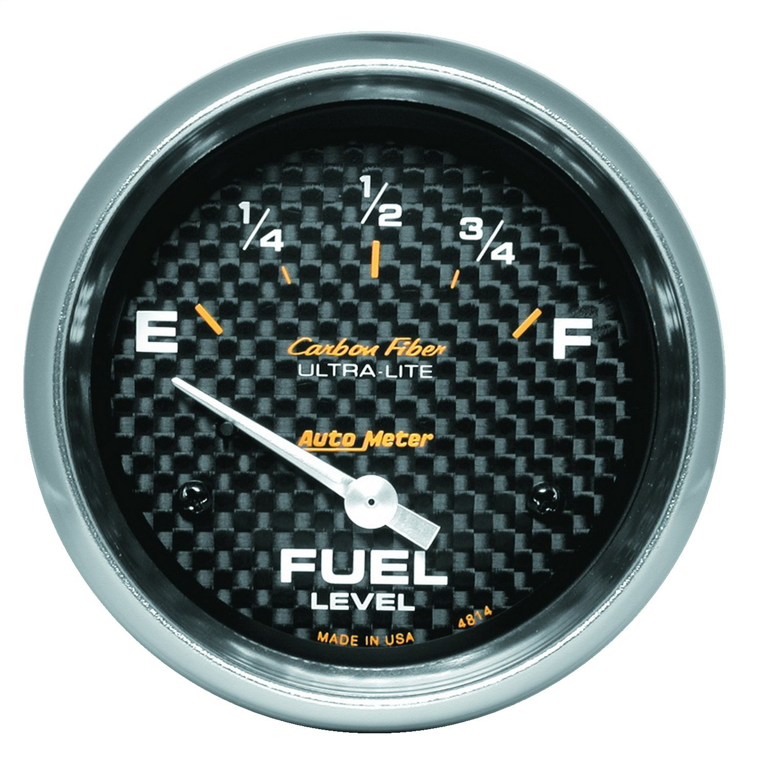 Auto Meter 4814 Carbon Fiber Electric Fuel Level Gauge