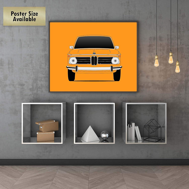 Amazon.com: BMW 2002 Tii Ti Turbo 02 Series Poster Print Wall Art Decor Handmade: Handmade
