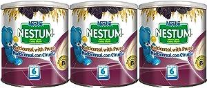 Nestle Nestum Infant Cereal, Multicereal with Prune, 9.5 OZ (3pack)
