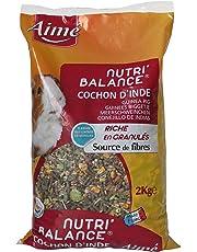 AIME Nourriture pour Cochon d'Inde NUTRI'BALANCE, Repas varié et équilibré, Sachet 2kg