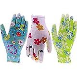 6 Pack HOMWE Gardening Gloves for Women - Assorted Colors - Medium