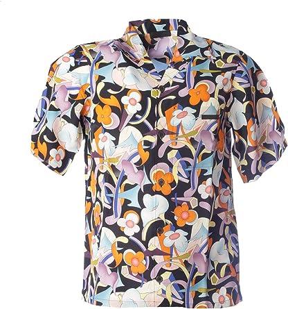 Prada UCS305S1811TDFF0049 Camisa de viscosa multicolor para hombre - Multi color - talla de marca L INT: Amazon.es: Ropa y accesorios