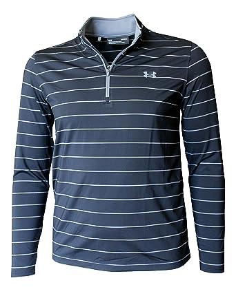 93253b176cdb5 Under Armour Men s Long Sleeve Performance Zip Shirt Athletic Striped Top  (Black