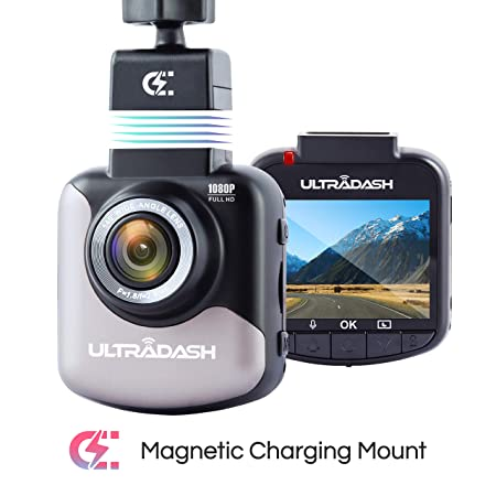 Dash Cam, UltraDash Full HD 1080P 30fps, Magnetic Charging Mount, HDR High-end Night Image Sensor, 6 Layers Glass F1.8 140 Degree Wide Angle Lens, G-Sensor, 2 Inch LCD, Super Capacitor, Loop Recording