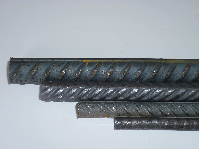 0//-3 mm B/&T Metall 26 Meter Betonstahl /Ø8 mm Moniereisen Rundstahl Baustahl Bewehrungsstahl in L/ängen /à 2000 mm