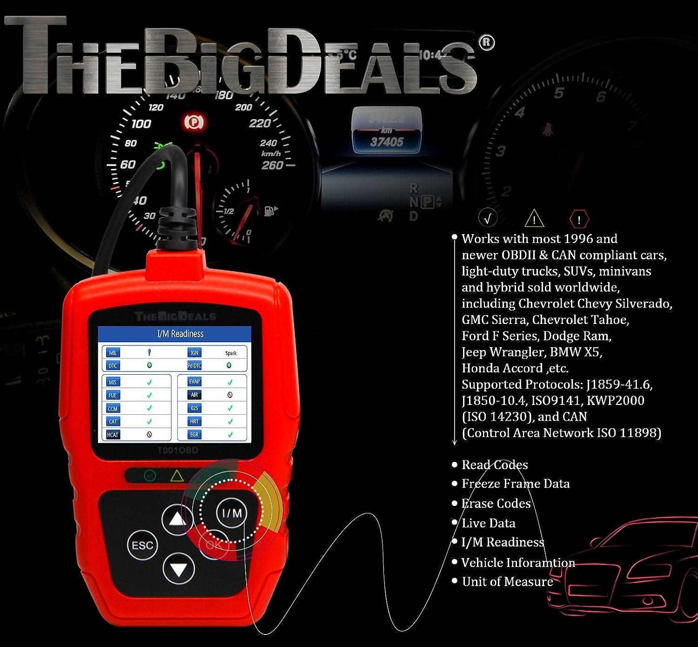 Amazon THEBIGDEALS T001OBD OBD II Scanner Car Engine Fault Code