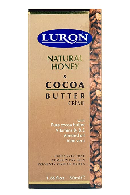 Luron crema de miel natural y manteca de cacao - enriquecida con manteca de cacao pura