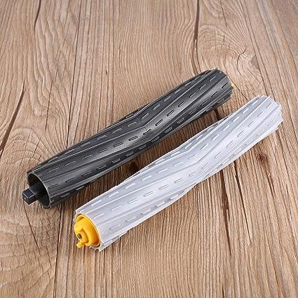 Jasnyfall Aspirador de Mano 2 Piezas de escobillas extractoras de residuos sin enredos para Irobot Roomba