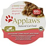 Applaws Cat Food Pot Succulent Tuna with Crab, 60g, Pack of 10