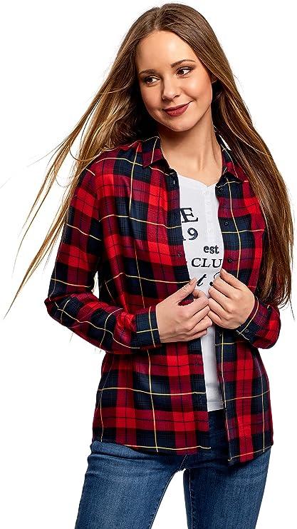 oodji Ultra Mujer Blusa Estampada de Viscosa: Amazon.es: Ropa y accesorios