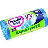 Handy Bag - Bolsas basura 30 L con autocierre - Resistentes antibacterias - 15 unidades