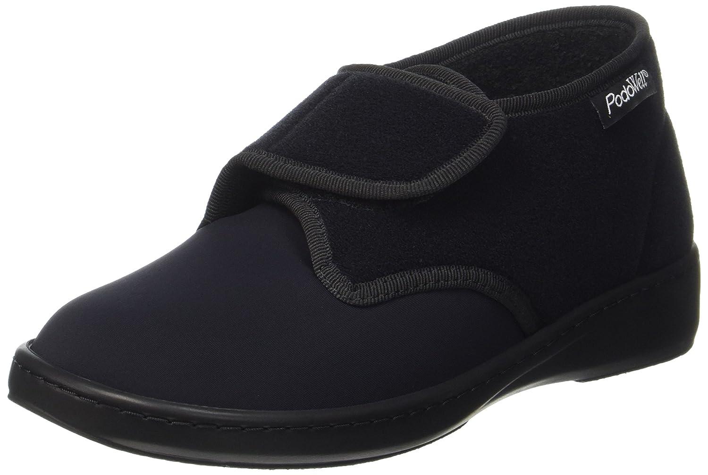 Black (Black) PodoWell Unisex Adults Aladin Hi-Top Slippers