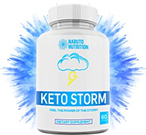 Keto Storm Diet Capsules – [10X Weight Loss Formula] Shark Tank Blend w/Apple Cider Vinegar, Green Tea, Ketones, Kelp - 1200mg Blend to Burn Fat, Support Ketosis, Boost Energy & Enhance Focus – 60 Ct