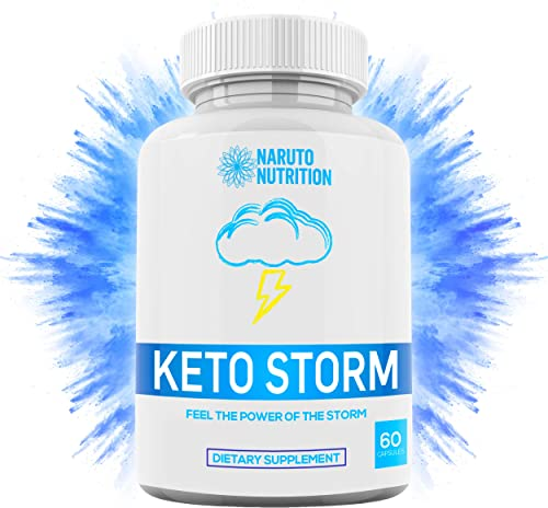 Keto Storm Diet Capsules 10X Weight Loss Formula Shark Tank Blend w Apple Cider Vinegar, Green Tea, Ketones, Kelp – 1200mg Blend to Burn Fat, Support Ketosis, Boost Energy Enhance Focus 60 Ct