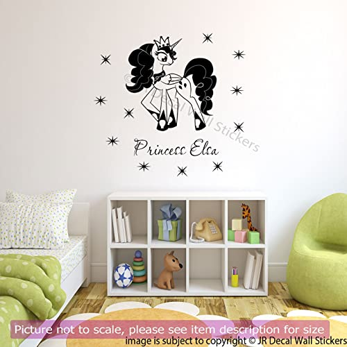 My Little Pony Princess Your Girls Name Vinyl Wall Art Stickers Bedroom  Decal Removable Vinyl Wall