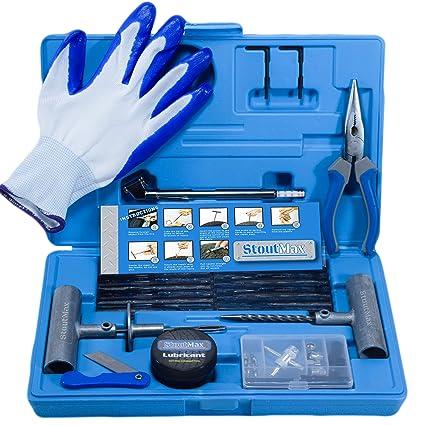 Kit de reparación de ruedas pinchadas con herramientas para ...