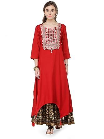 78fabf740c Amazon.com: Manas Store Indian Designer Kurta Kurti Bollywood Tunic Ethnic  Top Dress: Clothing