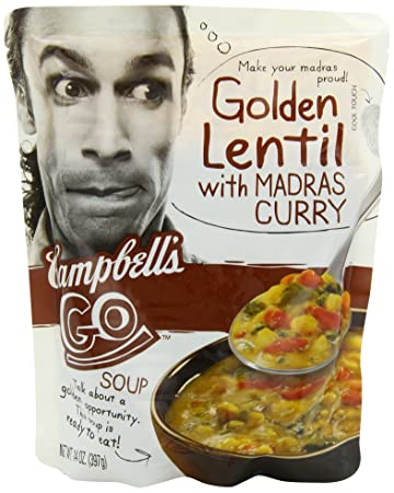 Amazoncom Campbells Go Soup Golden Lentil with Madras Curry 14