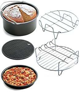 Air Fryer Accessories - Phillips Gowise And Cozyna, Fit All 3.4QT - 5.8QT(Set of 5)