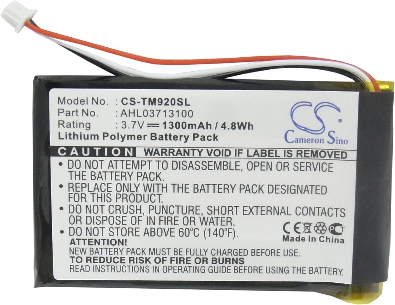 Batería GPS para Tomtom Go 920 Go 920T Go XL330 One XL 340 340S Live XL Compatible con Tomtom AHL03713100 Navigator Battery (1300 mAh, 4,81 WH, Li-Polymer, 3,70 V)