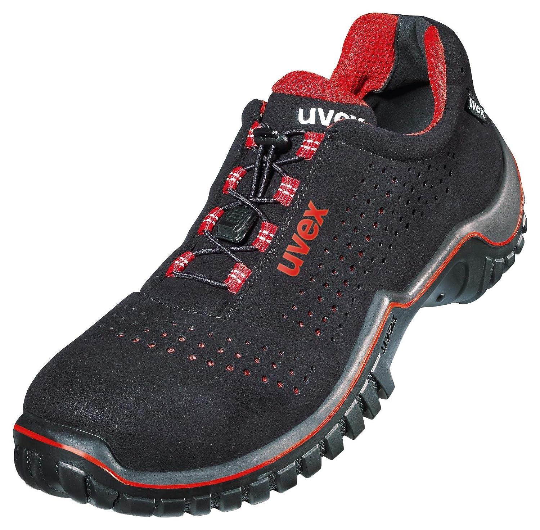 Uvex Motion Style ESD Arbeitsschuhe - S1 SRC ESD Style - Sicherheitsschuhe für Damen und Herren - Gr. 36 bis 50 Rot / Schwarz 063e00