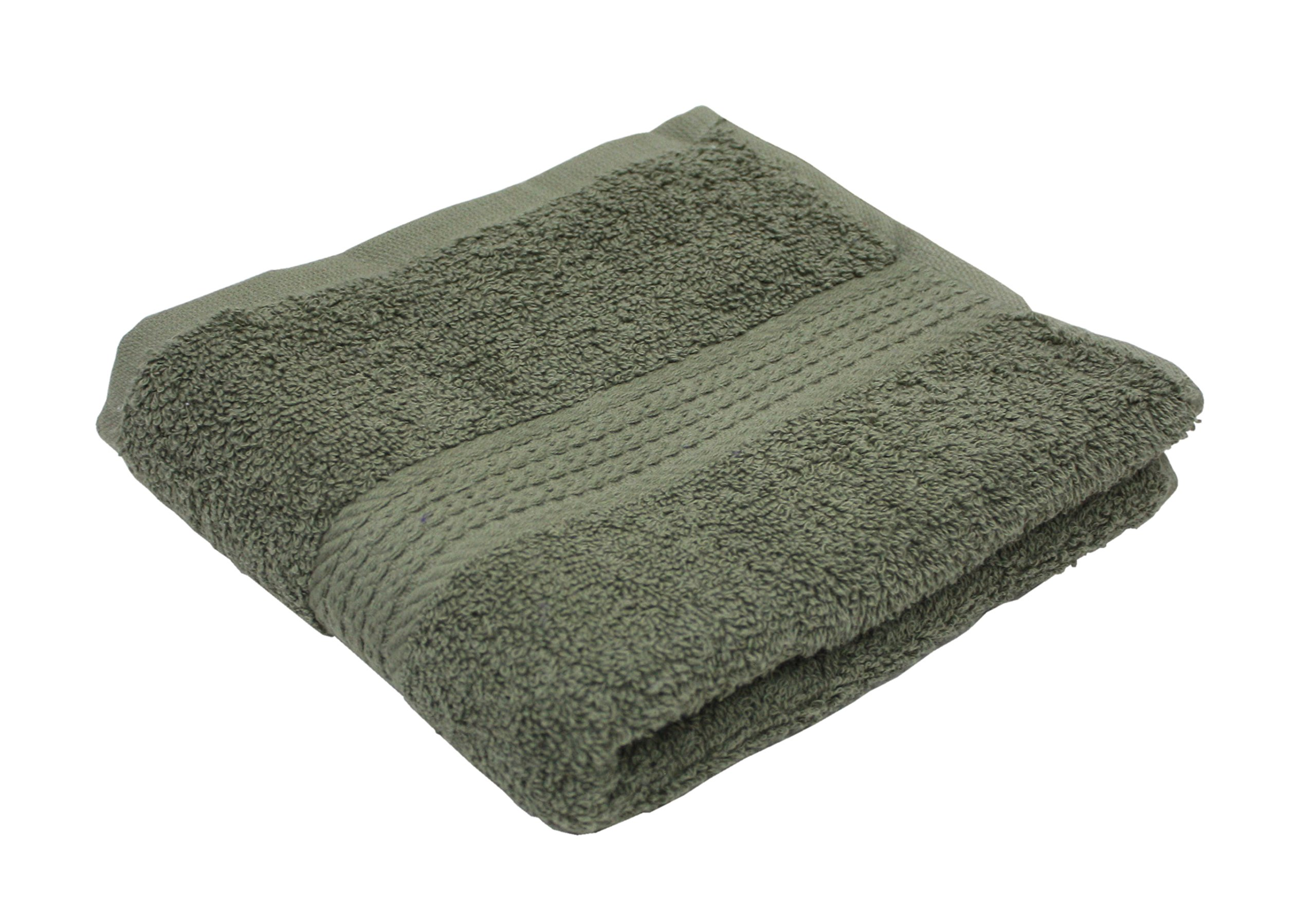 Premium 72-Piece Bulk Pack Cotton Hand Towel Set, 16x27, Hotel & Spa Quality, Super Soft and Ultra Absorbent for Commercial Business-Olive Green