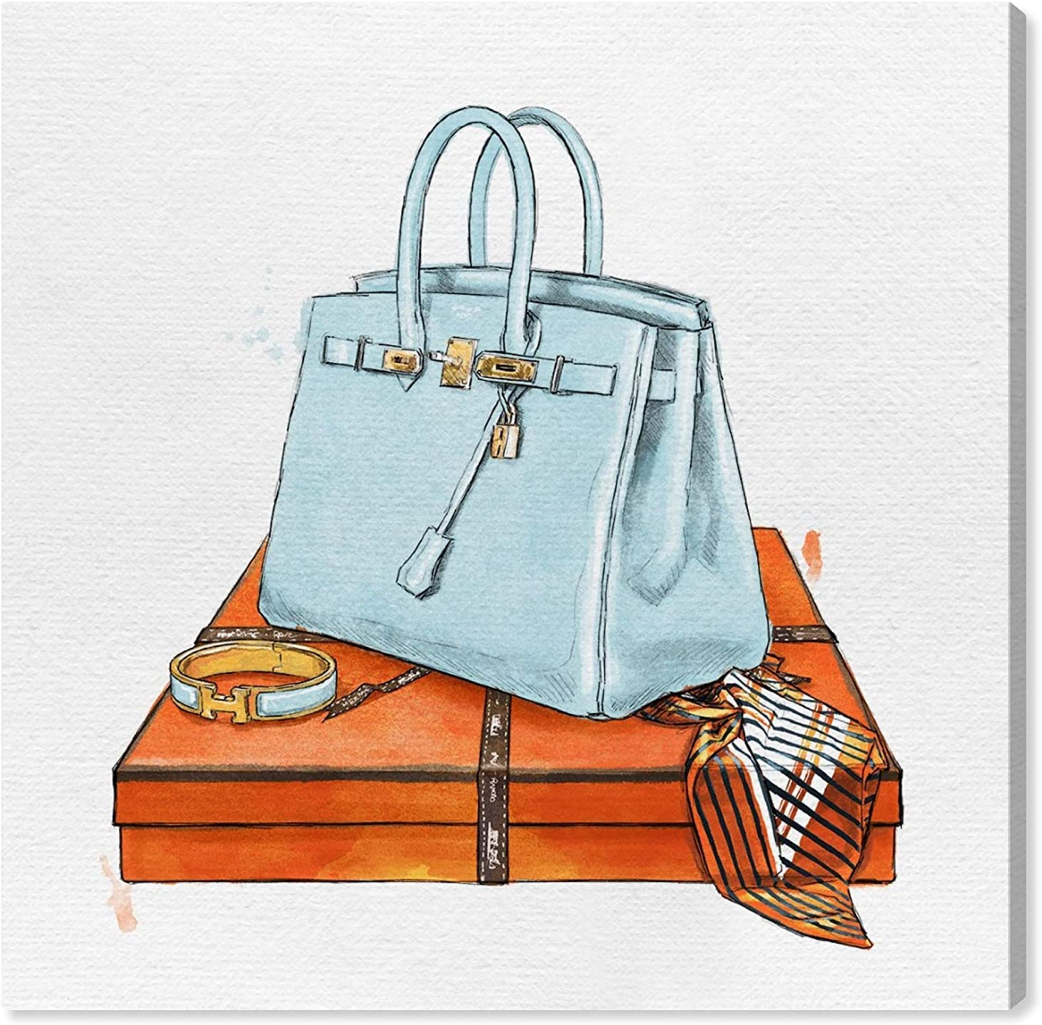 Oliver Gal 'My Bag Collection I' The Fashion Wall Art Decor Collection Modern Premium Canvas Art Print