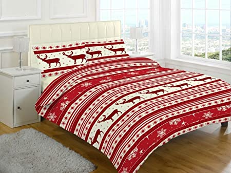 Christmas Reindeer Duvet Cover Pillow Case Quilt Cover Bedding Set