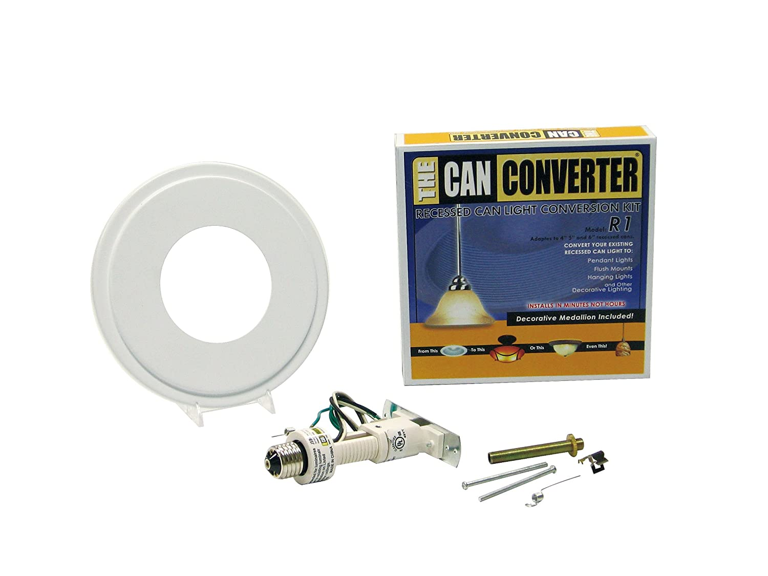 The Can Converter R1 Recessed Can Light Conversion Kit For 4inch, 5inch  And 6inch Recessed Cans Utilizing Incandescent Bulbs, White   Amazon