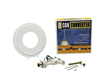 The Can Converter R1 Recessed Can Light Conversion Kit For 4 Inch, 5 Inch  And 6 Inch Recessed Cans Utilizing Incandescent Bulbs, White     Amazon.com