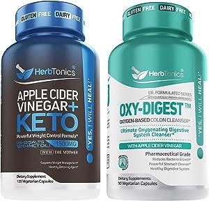 5X Potent Apple Cider Vinegar with Keto + OXY-Digest with Apple Cider Vinegar