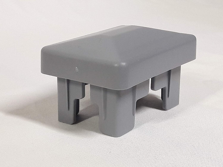 OuM 50 St/ück Innenpfostenkappe Innenzaunpfahlkappe rechteckig 40x60mm Grau
