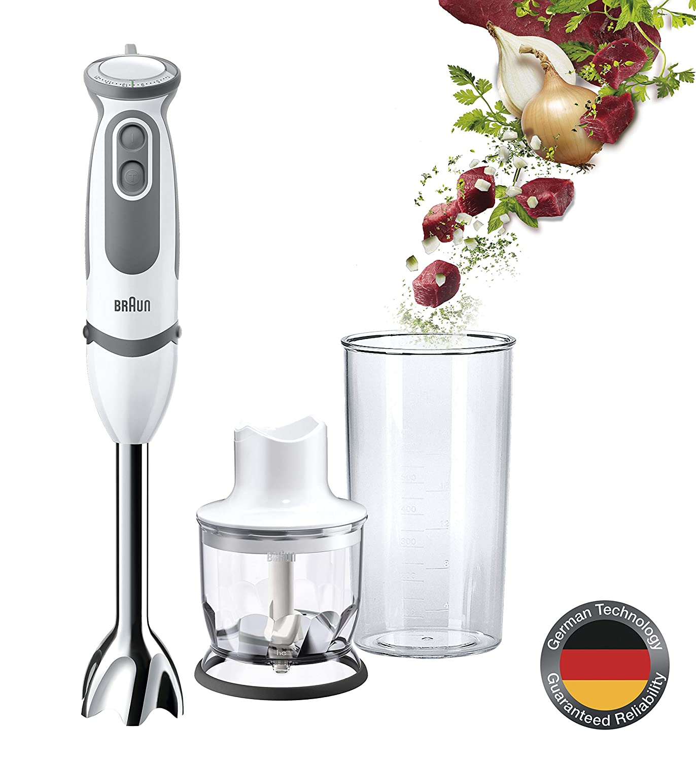 Braun MQ5020 Multiquick 5 Pasta Hand Blender w/ Chopper, 220V (Not for USA - European Cord)
