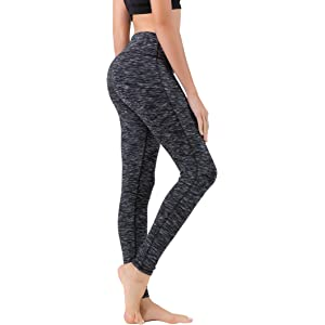 77d64720a8 Queenie Ke Women Power Stretch Plus Size High Waist Yoga Pants Running  Tights Size S Color