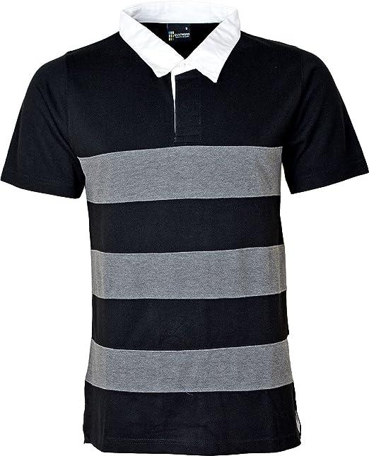 Herren Rugby Polo Shirt Gestreift Weiß gesträhntes Halsband schwere  Polyester Baumwolle S M L XL XXL 3 X L 4 X L 5 X L 6 X L: Amazon.de:  Bekleidung