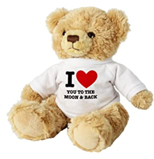 I LOVE YOU TO THE MOON AND BACK 7 TEDDY BEAR Romantic Gifts Presents For