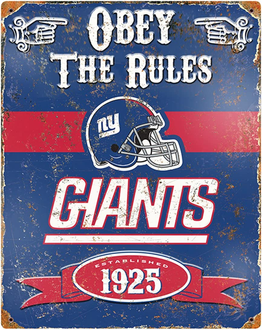 Party Animal NFL Embossed Metal Vintage Pub Signs